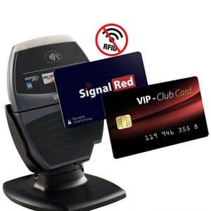 rfid blocking card between rfid reader and credit card