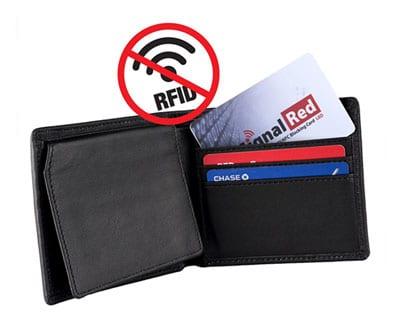 Brieftasche mit rfid-Signal-Störkarte