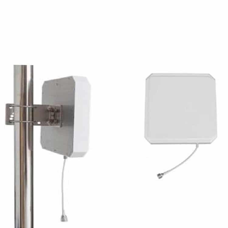 UHF-Antenne montiert an Stange