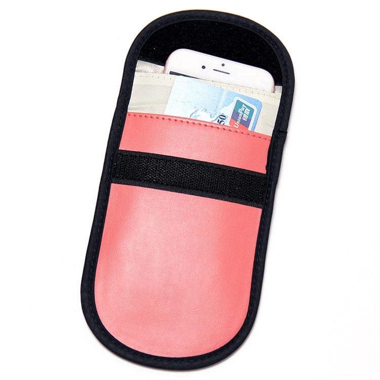 rote PU-Leder rfid blocking Tasche Vorderansicht