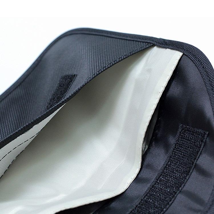 schwarze rfid-blockierende Tasche Innenansicht