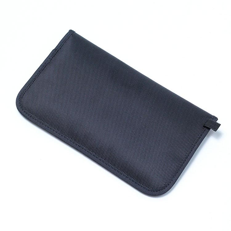 schwarze rfid Schutztasche Rückansicht