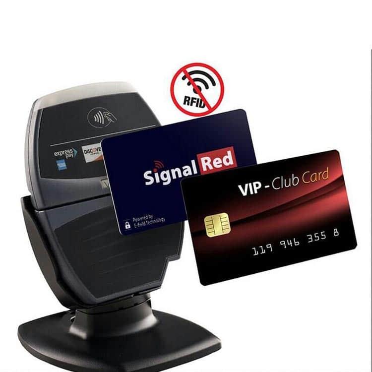 Aktive RFID Abschirmungs-karte mit Störsignal