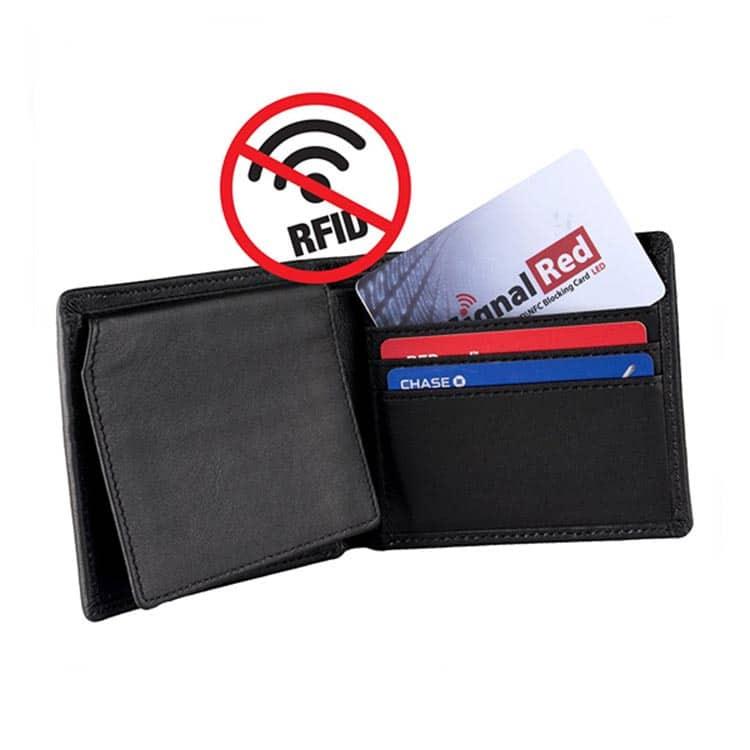 rfid signal sperrende Karte im Portemonnaie