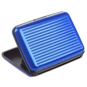 blaue rfid-schützende Geldbörse