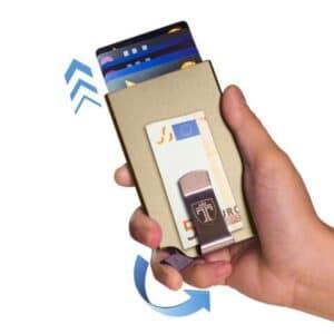 rfid-schutz geldbörse mit pop-up-mechanismus