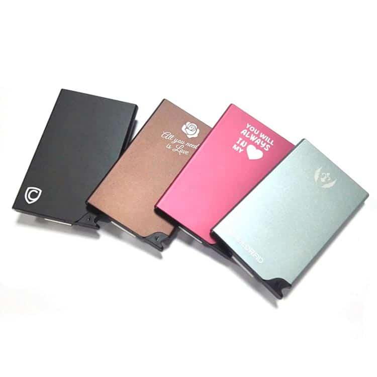 rfid sicherheit pop-up portemonnaie in verschiedenen Farben und individuellem Druck