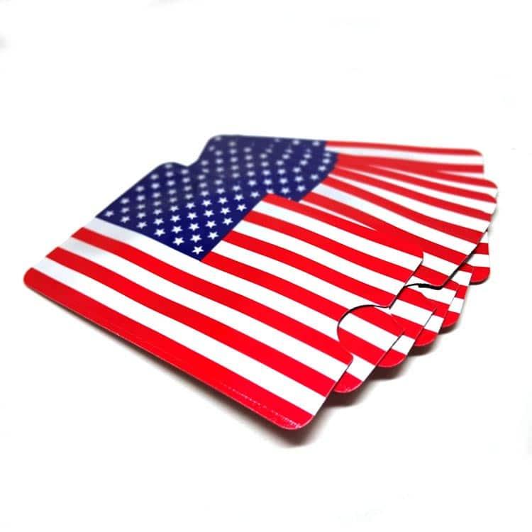 rfid abschirmende Hüllen mit amerikanischer Flagge bedruckt