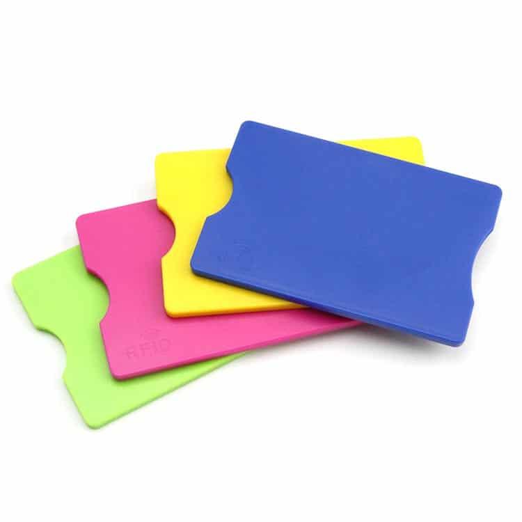 rfid blockende ABS-Hüllen in verschiedenen Farben