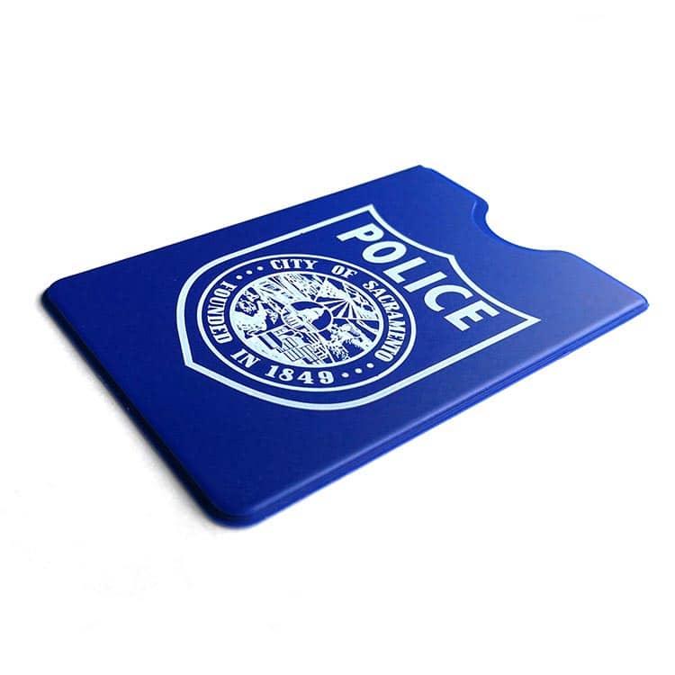 blaue rfid-blockende Hülle für die Polizei