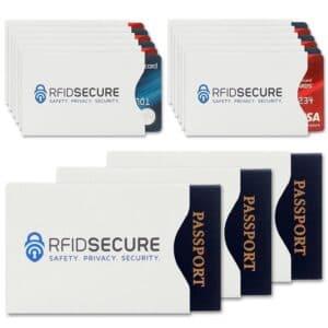 reisepässe und kreditkarten durch rfid-schutzhüllen geschützt