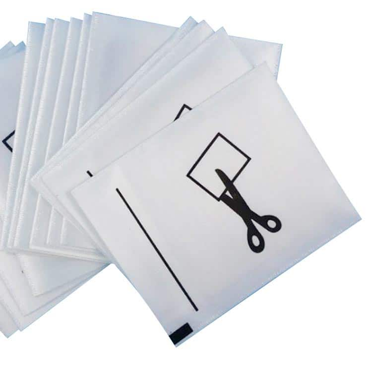 rfid-gewebtes Bekleidungsanhänger mit individuellem Druck