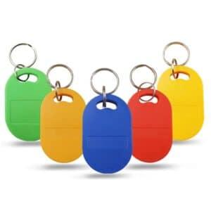 ABS RFID Schlüsselanhänger in verschiedenen Farben wie grün, orange, blau, rot, gelb
