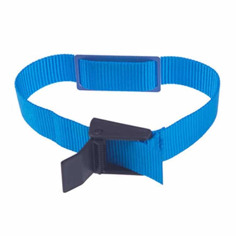 Blaues RFID-Armband mit Nylonband und eingebettetem RFID-Chip