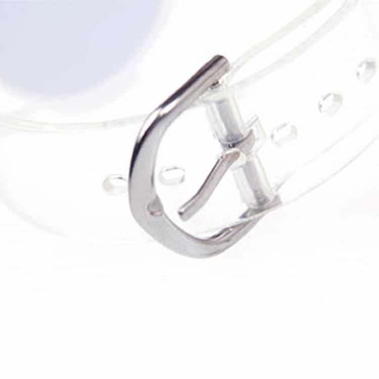 Verschlussmechanismus eines RFID-Armbandes aus transparentem Kunststoff