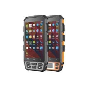 zwei android-handlesegeräte frontansicht