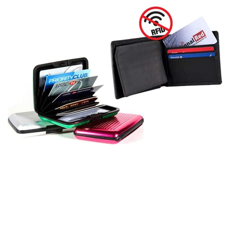 rfid-sperrendes Etui und Portemonnaie mit Signal-Störkarte