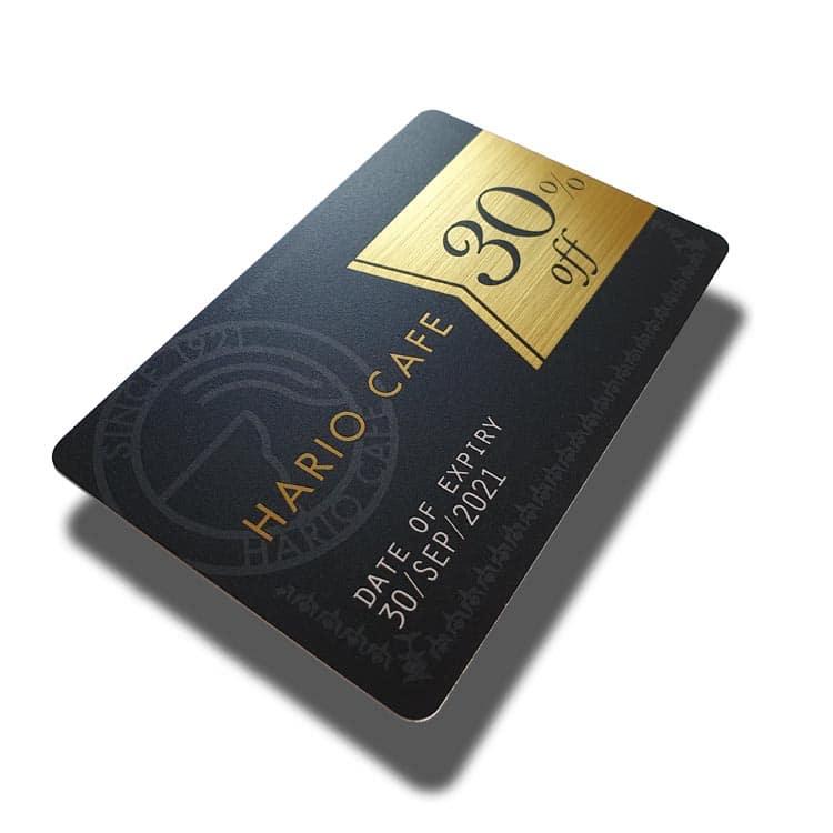 RFID-Chipkarte mit goldener Harline-Oberfläche, Rest mit individuellem Design bedruckt