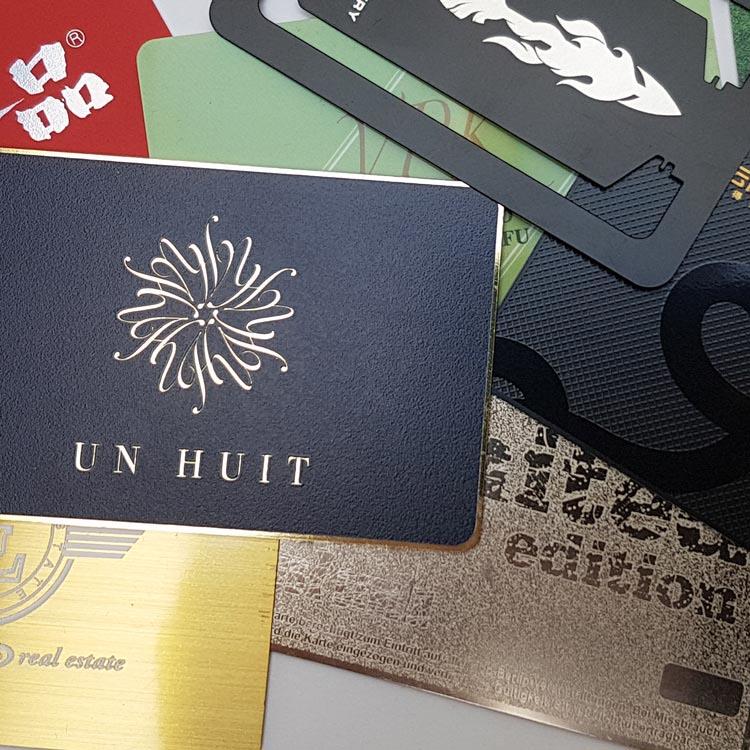 exklusive RFID Metall-Chipkarten mit individuellem Design