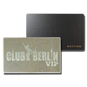 RFID Metall-Chipkarten in Silber und Schwarz mit individueller Oberflächenätzung und -druck