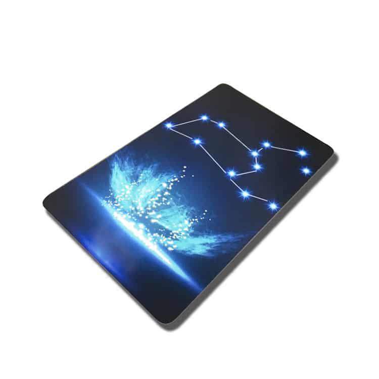 RFID Smartcard mit blauen Punkten bedruckt