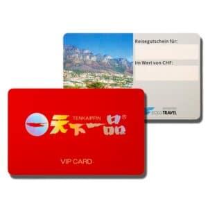 2 Beispiele für PVC-Chipkarten mit kundenspezifischen Designs