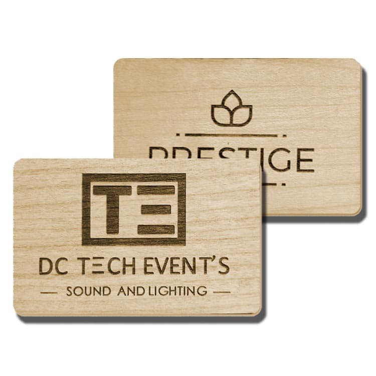 Holz-Chipkarten mit integriertem/eingebettetem RFID-chip/tag/transponder
