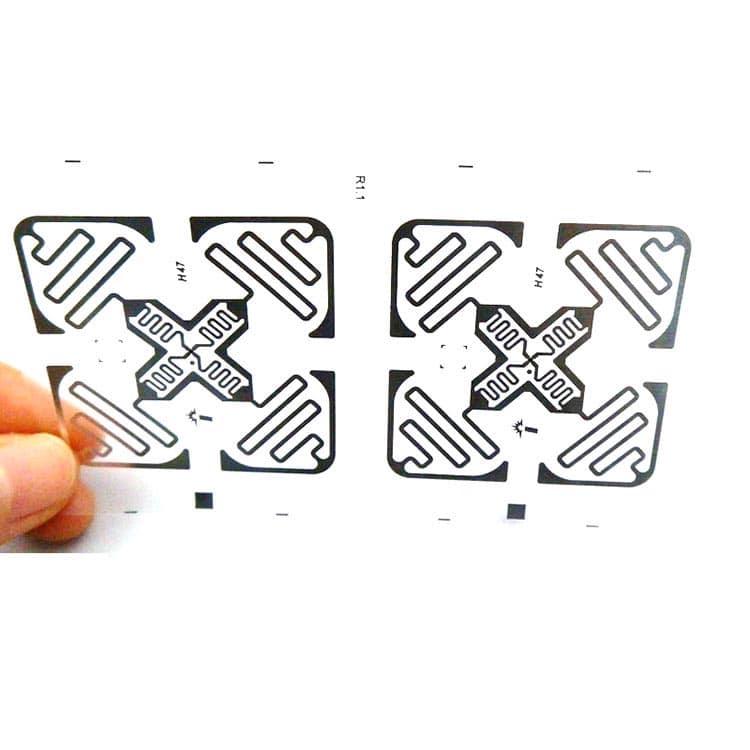 ein weiteres ultrahochfrequentes rfid-inlay auf transparentem substrat