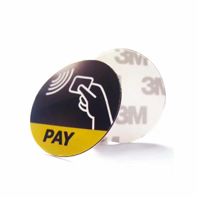 Anti-Metall RFID-Etikett mit individuellem Druck und rückseitiger Klebeschicht